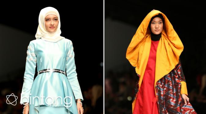 Koleksi hail kolaborasi Shireen Sungkar bersama sang kakak dan Zaskia Adya Mecca. (Andy Masela/Bintang.com)