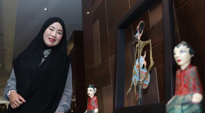 Peserta D'Academy Asia asal Brunei Darussalam, Yaniey Junaini persiapkan empat buah lagu dan kostum spesial [foto: Herman Zakharia]