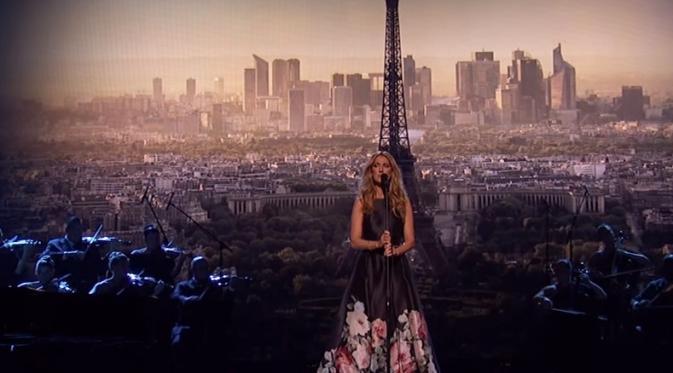Celine Dion di malam American Awards 2015. (ABC)