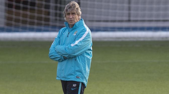 Manajer Manchester City, Manuel Pellegrini (EPA/Peter Powell).