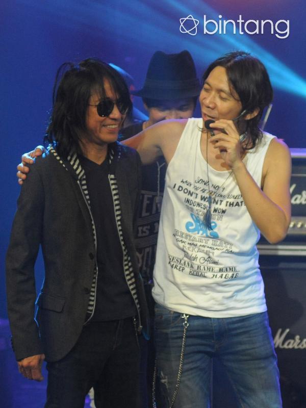 Abdee Negara dan Bimbim di Konser Legenda 32 Tahun Slank (Nurwahyunan/Bintang.com)
