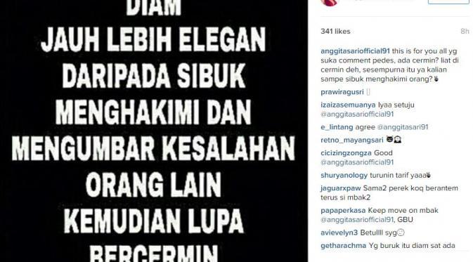 Anggita Sari (Instagram/@anggitasariofficial91)