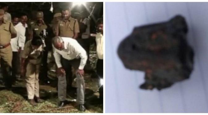 Meteorit diduga menewaskan seorang pria di India (Tamil Nadu Police)