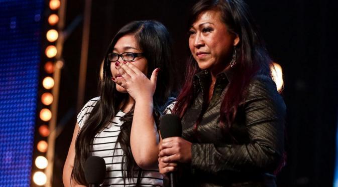 Ana dan Fia, kontestan yang berasal dari Indonesia saat mengikuti Britain's Got Talent (Telegraph)