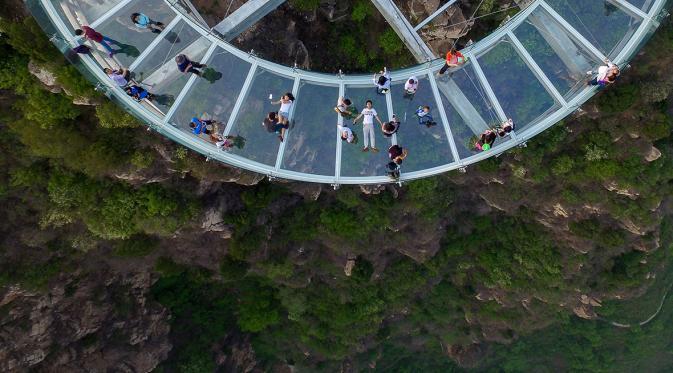 Pinggu Stone Forest Gorge Shilinxia, Tiongkok. (AFP)