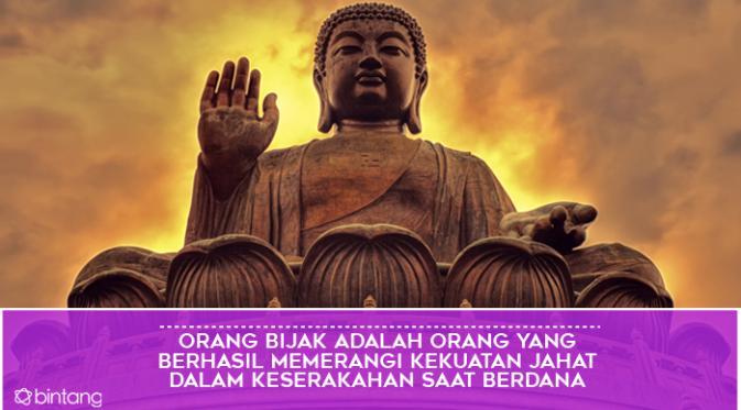 Kata-kata Bijak Sang Buddha. (Design by Muhammad Iqbal Nurfajri/Bintang.com)