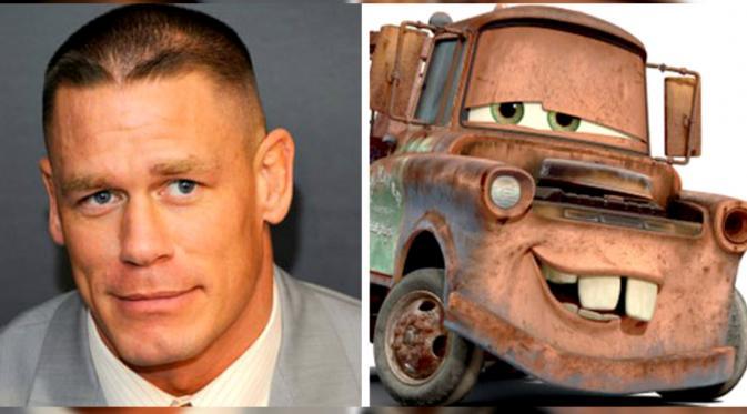 John Cena, pegulat AS yang mirip dengan karakter Mater dalam film animasi 'Cars' (SumberL EMGM)