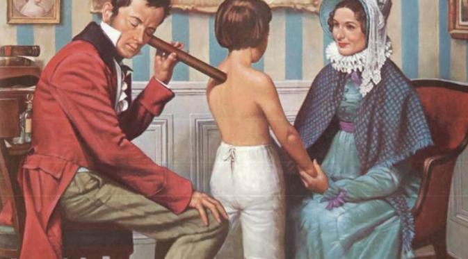 Rene Theophile Hyacinthe Laennec  pencipta stetoskop. (sumber: Medicinal Discovery)