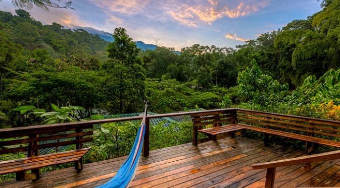 Balkon menghadap hutan dan gunung (sumber. brightside.me)