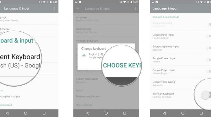 Cara mengatur default keyboard pada smartphone Android (Sumber: Android Central)