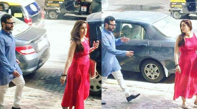 Kareena Kapoor tetap tampil modis saat hamil. (via. India.com)
