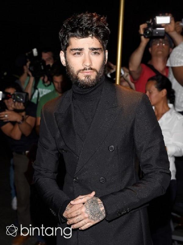 Zayn Malik tampil menawan dengan janggut baru di New York Fashion Week. (AFP/Bintang.com)