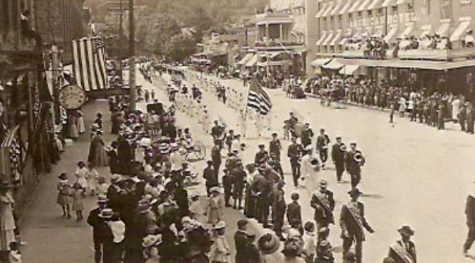 Parade Patriotic Order Sons of America, 1909. (Sumber pa-roots.org)