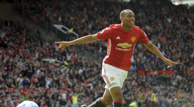 Anthony Martial. (AP Photo/Rui Vieira)