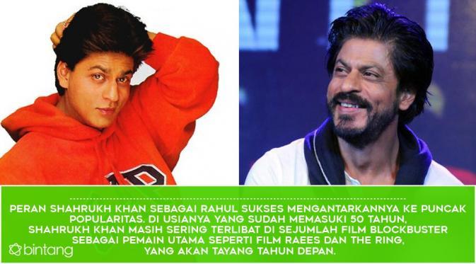 Shahrukh Khan. (Desain: Nurman Abdul Hakim/Bintang.com)