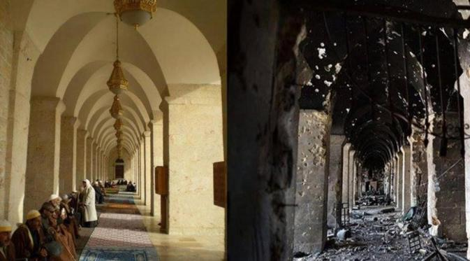 Hancur Berantakan, Seperti Ini Perbedaan Aleppo Kini dan Dulu (Carlo Ohanian/Olympia/Independent.co.uk)