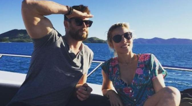 Chris Hemsworth dan istrinya, Elsa Pataky. (Instagram - @chrishemsworth)