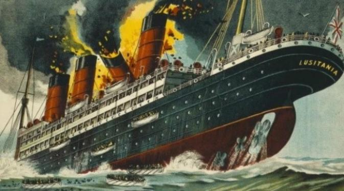 Lusitania. (Sumber US Library of Congress)