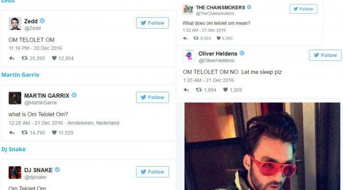Selebritas dunia membincangkan 'Om Telolet Om'. (Twitter)