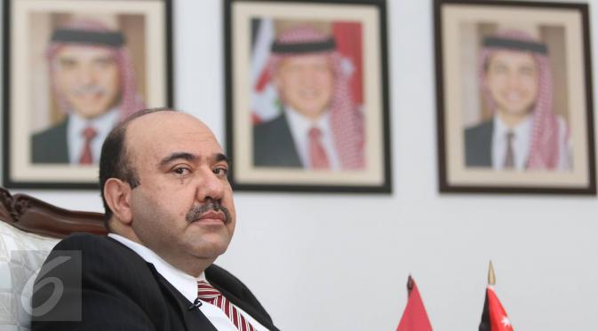 Duta Besar Kerajaan Yordania Alhasyimiah untuk Indonesia, Walid Abdel Rahman Jaffal Al-Hadi. (Liputan6.com/Immanuel Antonius)