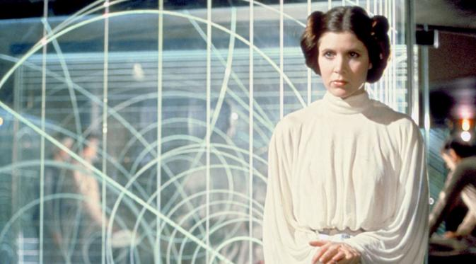 Carrie Fisher, pemeran Princess Leia di film-film Star Wars. (StarWars.com)