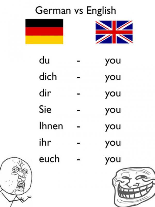 Kamu dalam Bahasa Jerman. (Via: boredpanda.com)