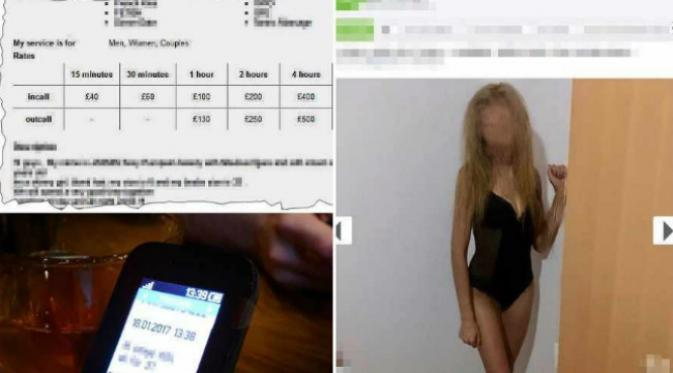 Ternyata ada suatu jejaring yang menawarkan jasa layanan seks di Inggris tanpa disadari warga suatu kota. (Sumber Express and Star)