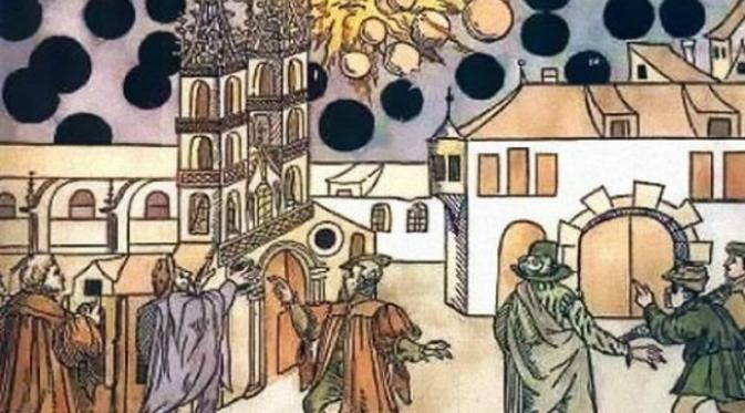 Ternyata, ada beberapa nama terkenal dalam sejarah yang pernah melaporkan penampakan UFO di masa lalu. (Sumber Zurich Central Library)