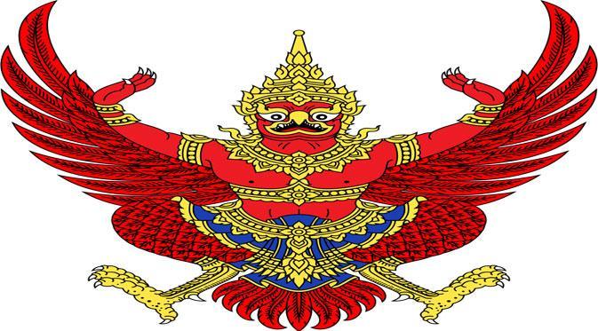 Lambang negara Thailand (Via: haikudeck.com)