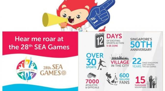 Fakta SEA Games 2015 Singapura | via: en.wikipedia.org