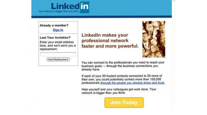 LinkedIn dulu | via: buzzfeed.com