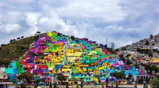 Kota berwarna di Meksiko | Via: bintang.com