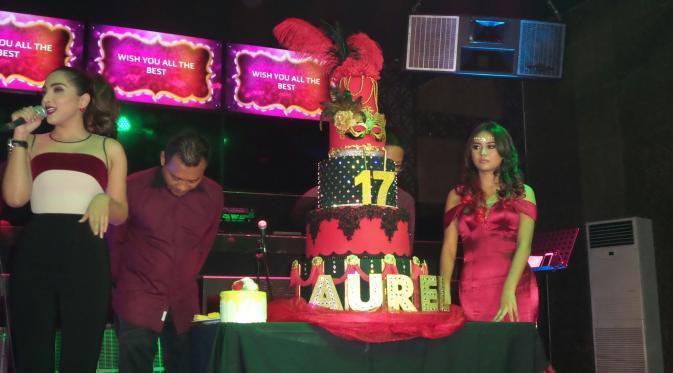 Suasana ulang tahun ke-17 Aurel Hermansyah. (foto: Liputan6.con/Rizky Aditya Saputra)