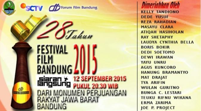 Festival Film Bandung (FFB) akan digelar 12 September. Berikut daftar nominator dari masing-masing nominasi.